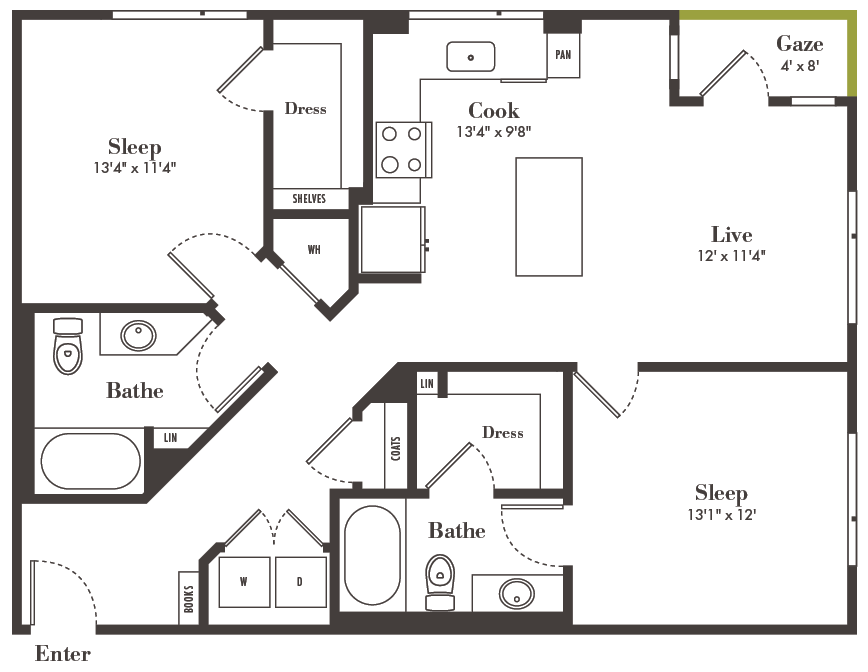 Denver two bedroom apartments